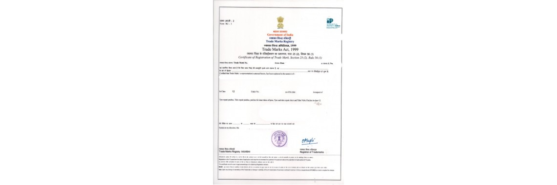 India Trademark Registration Certificate India