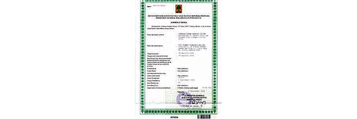 Indonesia Trademark Registration Certificate Indonesia