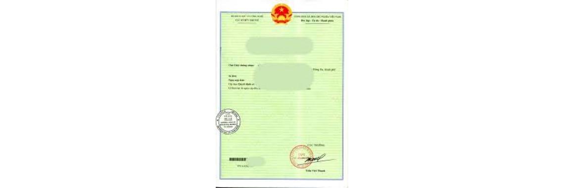 Vietnam Trademark Registration Certificate Vietnam